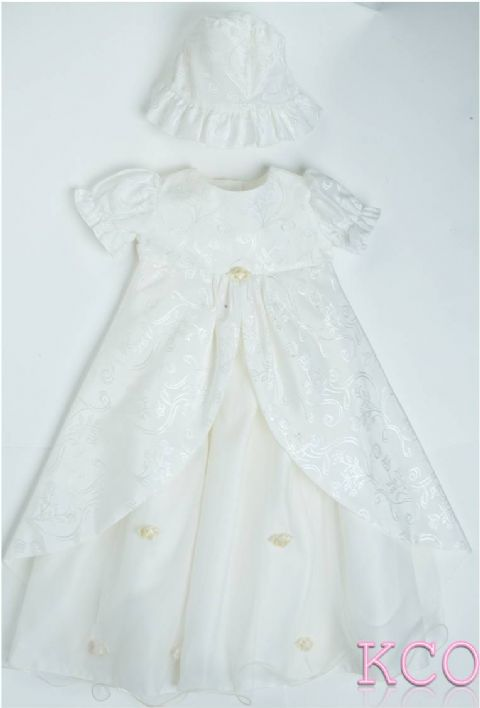 5 Layer Christening Gown Ivory